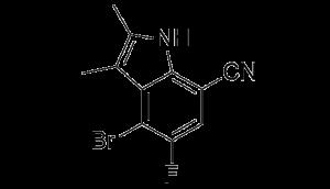 CAS 1912446-10-6, 4-bromo-5-fluoro-2,3-dimethyl-1H-indole-7-carbonitrile