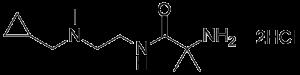 2-amino-N-(2-((cyclopropylmethyl)(methyl)amino)ethyl)-2-methylpropanamide dihydrochloride