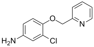 CAS 524955-09-7, 3-chloro-4-(pyridin-2-ylmethoxy)aniline